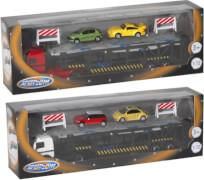 Speed Zone D/C Autotransporter mit PKW, 1:72, 2-fach sortiert, ca. 29,8x6,4x9,8 cm, ab 3 Jahren (nicht frei wählbar)