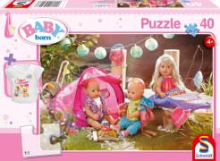 Schmidt Spiele Puzzle Baby Born Komm, wir zelten! 40 Teile und T-Shirt