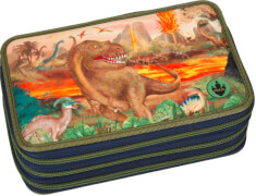 Depesche 6458 Dino World 3-fach Federtasche  LED