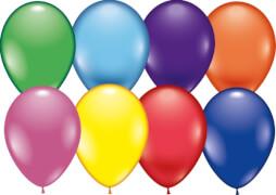 Ballons, rund, 8 Stück, Durchm.: 30 cm
