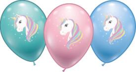 Ballons Einhorn 6 Stück, Umfang 90-100cm